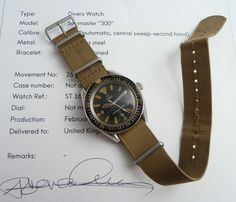 GENUINE VINTAGE MILITARY ISSUED OMEGA SEAMASTER 300 165.024 BIG TRIANGLE & ARCHIVE