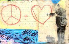 Peaceful Heart Doctor by Banksy in Chinatown SF #banksy #streetart #peacefulheart