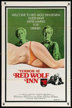 Terror at Red Wolf Inn original movie poster - horror Horror Movie Posters, Cinema Posters, Horror Films, Film Posters, Retro Posters, Movie Posters For Sale, Original Movie Posters, Movie Poster Art, Pin Up