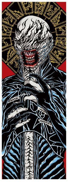 Hellraiser - ''Chatterer'' - Vincent X. Horror Posters, Horror Icons, Horror Films, Scream, Horror Artwork, Horror House, Horror Show, Best Horrors, Classic Monsters