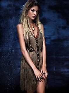 Fire Circle Fringe Dress in clothes-dresses