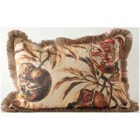 Pomegranate Tree w/ Jute Fringe Lumbar Pillow