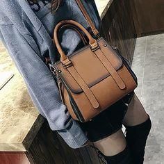 Women's New Casual Vintage High Quality Leather Top-Handle Handbag Trendy Handbags, Classic Handbags, New Handbags, Cheap Handbags, Small Handbags, Vintage Handbags, Purses And Handbags, Luxury Handbags, Travel Handbags