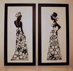 35 Impossibly Creative Projects You Can Make with Recycled Egg Cartons - DIY. African Design, African Art, African Paintings, Worli Painting, Different Art Styles, Art Africain, Yellow Art, Indigenous Art, Black Women Art