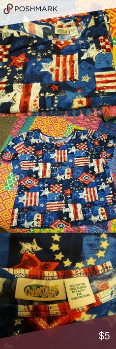 Stars & stripes & sequins-Yankee doodle dandy! You can't find a shirt better for 4th of July picnics and Memorial Day BBQ SAUCE!  I pledge allegiance to fun! Collections Etc Tops Tees - Short Sleeve