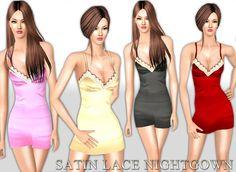 Saliwa's Satin Lace Nightgown