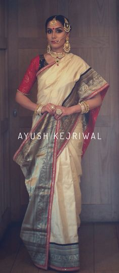 Benarsi Saree by Ayush Kejriwal I want you to meet ' MADAMJI' For purchases… Benarsi Saree, Phulkari Saree, Sabyasachi, Indian Beauty Saree, Indian Sarees, Traditional Sarees, Traditional Dresses, India Fashion, Ethnic Fashion