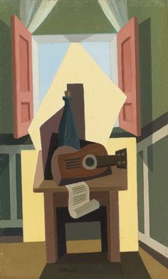 Emilio Pettoruti (Argentinian, Window Still Life Georges Braque, Contemporary Abstract Art, Modern Art, Pablo Picasso, 20th Century Painters, Cubist Art, Francis Picabia, La Face, Still Life Drawing