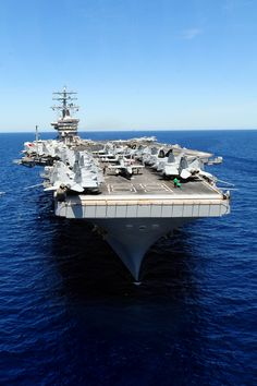 CVN-69 Dwight D. Eisenhower - My hubby's home away from home for 2 tours.   Beautiful ship.