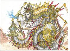 Titano-Serpente alimentato dal fuoco primordiale.