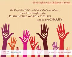Not to be too attached with worldly things and to give Charity 'Abdullaah ibn 'Umar (a Companion) narrated that the Messenger of Allah, sallallaahu 'alayhi wa sallam, came to Faatimah and he. Learn Islam, Prophet Muhammad, Soul Food, Allah, Charity, Islamic, Youth, Daughter, Parenting