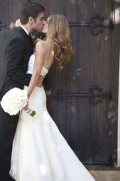 I love everything about this-- her hair, the dress, the pose. I hope I have a shot like this on my wedding day