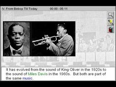From Bebop till Today (History of Jazz Part 4) - http://www.zaneeducation.com - From Bebop till Today is Part 4 of History of Jazz - Trace the history of jazz from the turn of the century to the 1960s, with a special focus on swing and cool jazz and the development of traditional jazz in New Orleans and Chicago. Study the unique role played by jazz in shaping American culture. Gain insight to the lives, times, and music of some of jazz's ...