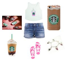 """""""Day at Starbucks"""" by afashionfangirl230 ❤ liked on Polyvore featuring Victoria's Secret PINK"""