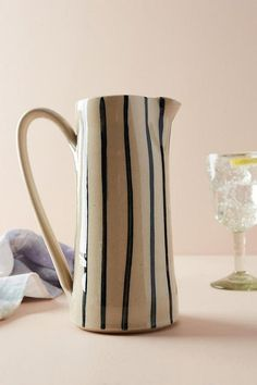 Slide View: Soho Home Whichford Pitcher Slab Pottery, Ceramic Pottery, Pottery Art, Thrown Pottery, Ceramic Painting, Ceramic Art, Ceramic Decor, Keramik Design, Ceramic Pitcher