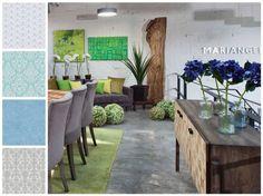Consola colección rompope: Oficinas y tiendas de estilo translation missing: mx.style.oficinas-y-tiendas.moderno por MARIANGEL COGHLAN