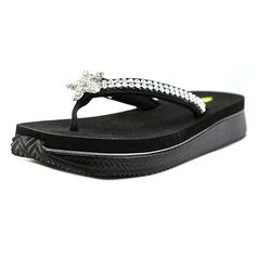 Volatile Twinkle Women Round Toe Synthetic Black Slipper >>> Remarkable outdoor item available now. - Closed toe sandals