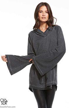 Bell Sleeve Hoodie Sweatshirt