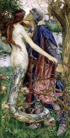 "1890 ""The knight and the mermaid"", Isobel Lilian Gloag (1868-1917)"