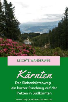Siebenhüttenweg auf der Petzen in Südkärnten Hiking, Outdoor, Group, Board, Nature, Travel, Europe, Hiking With Kids, Naturaleza
