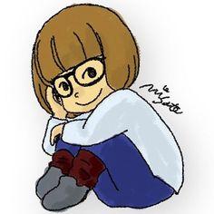 #photoshop #illustration #glasses #footwarmer #bobhair #girl #イラストレーター #イラスト #メガネ #ボブヘアー