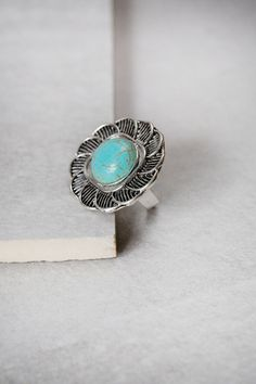 Turquoise Stone Ring. Perfect for the summer!