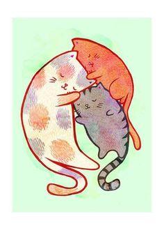 [고양이일러스트 그림] 귀여운 고양이 그리기, 고양이 캐릭터 -8