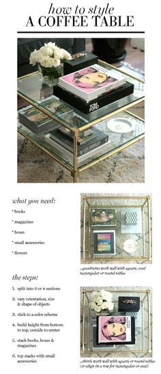 petit magasin: comment coiffer une table basse small shop: how to style a coffee table - Interior Decoration Accessories coffee tables Coffee Table Styling, Decorating Coffee Tables, How To Decorate Coffee Table, Coffee Table Books, Living Room Inspiration, Home Decor Inspiration, Interior Design Tips, Interior Decorating, Diy Design