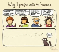 This cartoon sums up my feelings on people and cats very well :)