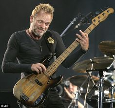 The Police: Sting No fashion police needed!  He's still gorgeous bald, grizzly bearded, whatever.  This man oozes with so much talent, who cares how old he is?