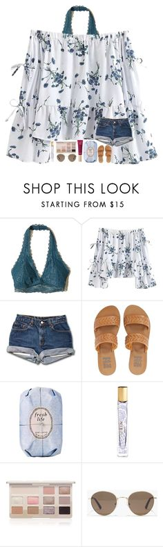 """spring break contest part two!!"" by madelinelurene ❤ liked on Polyvore featuring Hollister Co., Billabong, Fresh, AERIN, Too Faced Cosmetics and Madewell"