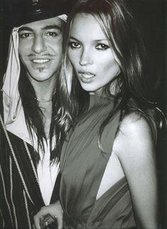 skinnyandtallmodels: Kate Moss and John Galliano