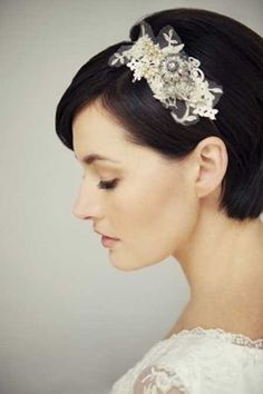 25 Wedding Hairstyles for Short Hair_10