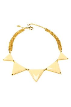 Triangle Bib Necklace by Black & White: Jewelry Trend on @HauteLook