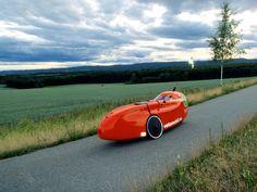 Gode sykkelveier for velomobilkjøring forbi Hønefoss