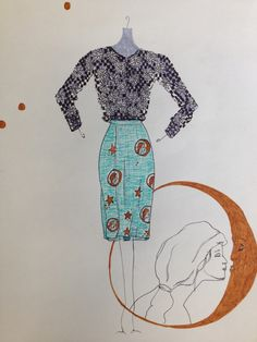 Skirt and Sweater Inspired by Nature  Fashion Design by Tiffany Rose Monahan