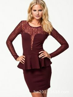New 2014 Spring Women Casual MAROON Dress  _____________________________ Reposted by Dr. Veronica Lee, DNP (Depew/Buffalo, NY, US)