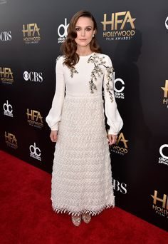 Keira Knightley's dress from the 2014 Hollywood Film Awards Red Carpet is Hadas' pick.