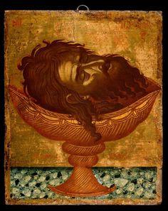 Byzantine Icons, Byzantine Art, John The Baptist, Orthodox Icons, Sacred Art, Christian Art, Fresco, Vignettes, Saints