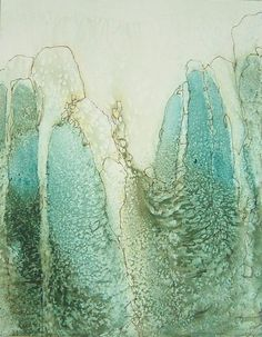 Contemporary Art by Elisa Nadzieja : Watercolor and ink on paper : Drawing/Work … Wax Art, Encaustic Painting, Painting Art, Monochrom, Watercolor And Ink, Abstract Watercolor, Art Plastique, Medium Art, Painting Inspiration