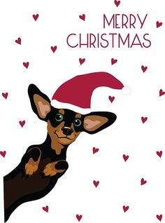 Cute dachshund with santa hat and heart pattern by miluri Fete Halloween, Halloween Quotes, Homemade Christmas Gifts, Christmas Tag, Mini Dachshund, Daschund, Nouvel An, Heart Patterns, Christmas Pictures