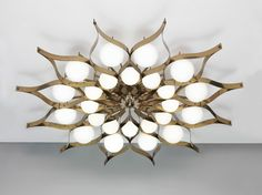 Gio Ponti, monumental chandelier for the Hotel Parco dei Principi, Rome, 1964. Manufactured by Arredoluce. scandinaviancollectors:
