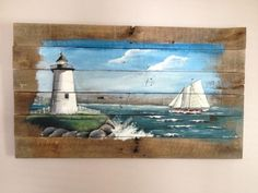 Pallet Painting 34X17 Distressed Wood Art Pallet Art by PalletPalz