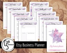 LIMITED half price offer- Etsy shop printable planner -Small business planner by craftschmooze. Explore more products on http://craftschmooze.etsy.com