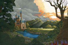 Sunset Return - by Melissa Suber giclee on canvas Arte Disney, Disney Magic, Disney And More, Disney Love, Disney Fine Art, Disney Paintings, Fairytale Castle, Disney Cartoons, Art World