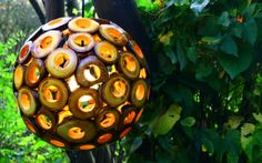 Eden, a handmade lamp created with the waste of nature