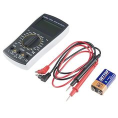 Digital Multimeter - Basic - The digital multimeter (DMM) is an essential tool in every electronic enthusiasts arsenal. The SparkFun Digital Multimeter, however, is not your average multimeter, it features a loud continuity sound, current/voltage sense, and quality probes.
