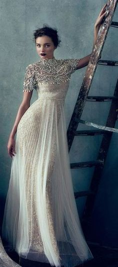 Marchesa Bridal or Gala Gowm  - Vogue February 2013..So Feminine & Romantic