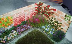 An English Embroidered Knot Garden - wonderful piece that, not surprisingly, took first prize at the local show!  Lots more views on her blog.