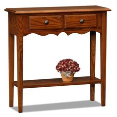 Leick 9027-MED Favorite Finds Petite Console Entry Table | ATG Stores